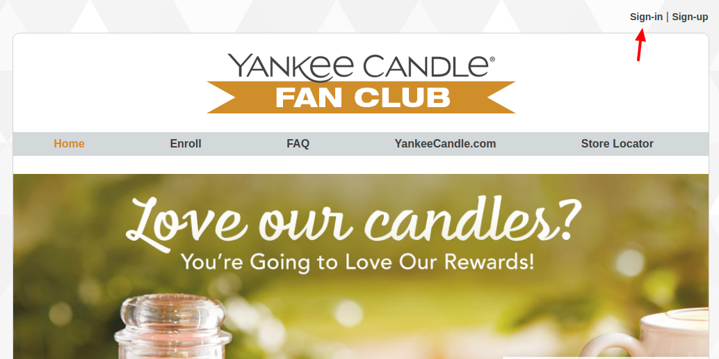 Yankee Candle Fan Club Sign In