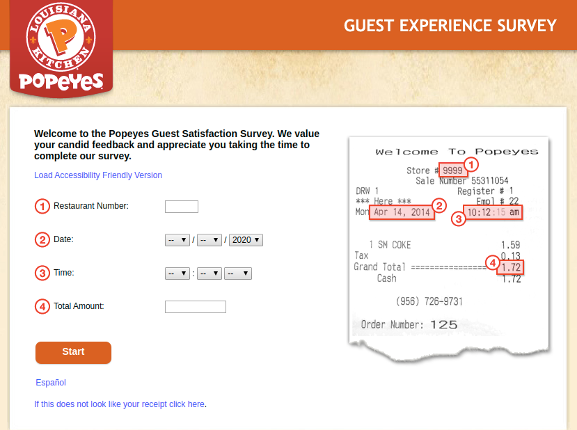 Popeyes USA Guest Survey