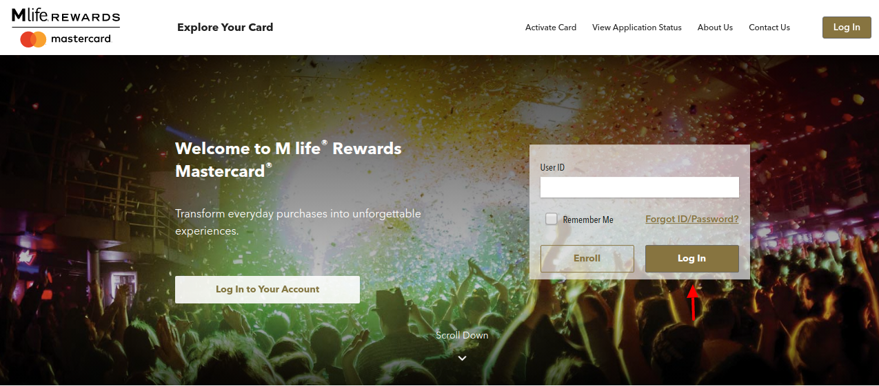 M life Rewards Mastercard Login