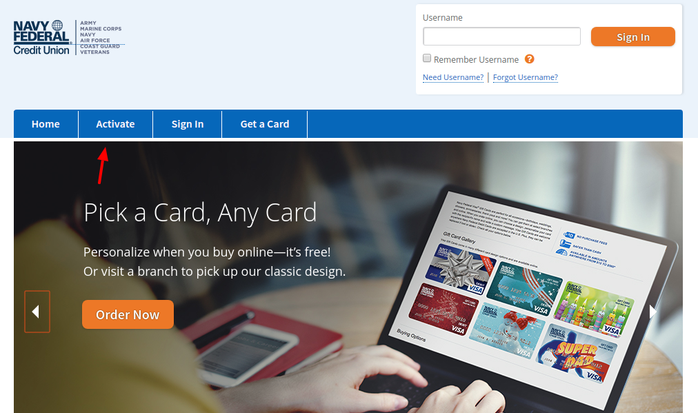 Navy Federal Credit Union Gift Card Activate