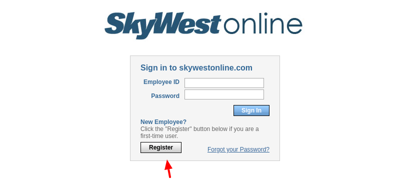 skywestonline register