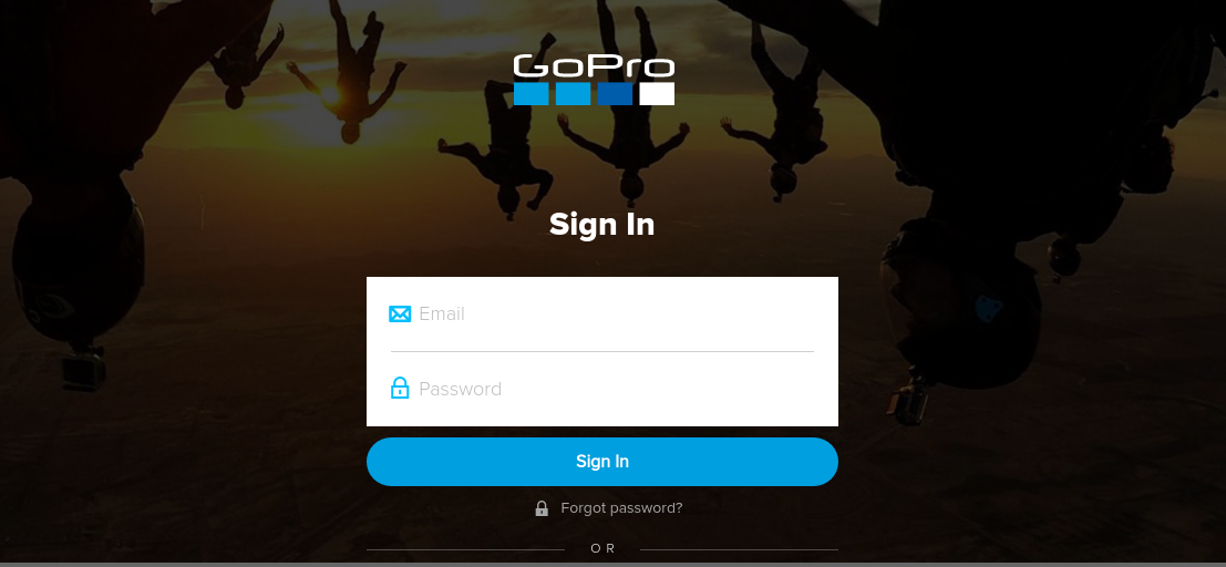 gopro sign in