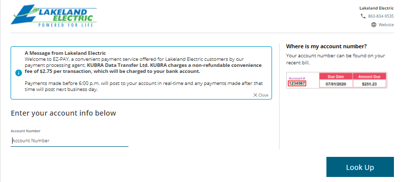Lakeland Electric Quick Payment