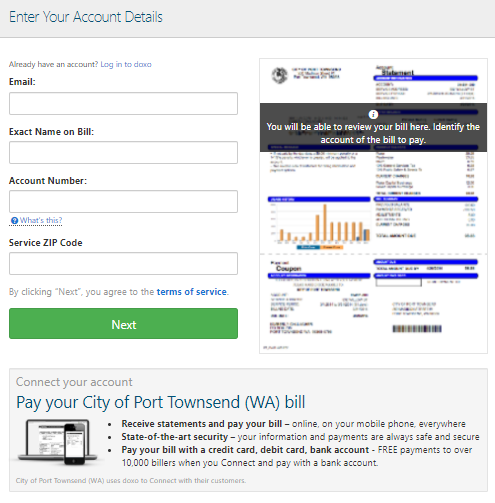 City of Port Townsend Bill Pay Online
