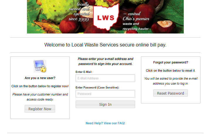 Local Waste Services Bill Pay